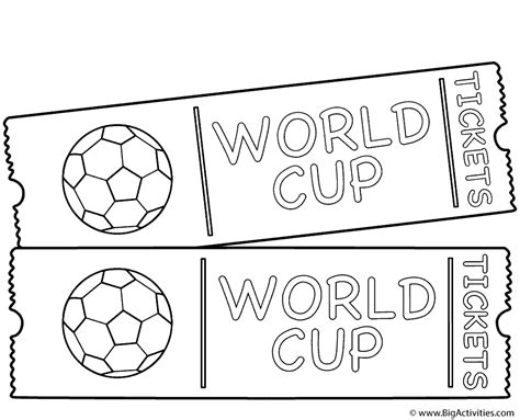 World Cup Game Tickets Coloring Page World Cup World Cup Coloring Pages