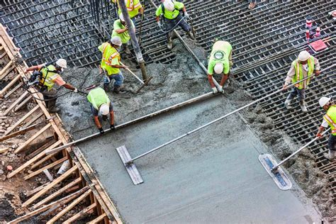 How To Pour A Concrete Slab For A Shed by Construction Facts Pouring A Concrete Yard Exaktime