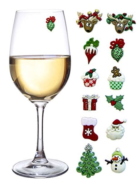christmas holiday magnetic wine glass cocktail
