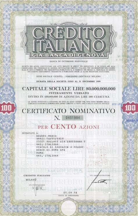 credito italiano credito italiano di genova scripomuseum