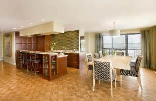 Dining Room Kitchen Design Open Plan this open concept space and dining room makes use of interesting