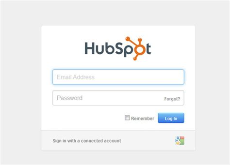 design hubspot form login forms design inspiration 40 interesting exles
