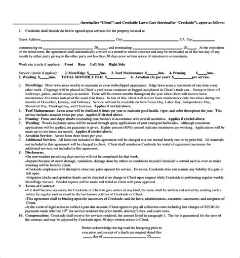 Plumbing Service Agreement Template by Plumbing Contract Template 9 Documents In Pdf
