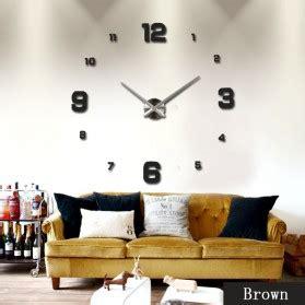 Jam Dinding Diy Wall Clock 25cm Diameter Diy Wall Clock 80 130cm Diameter Elet00660 Jam Dinding Black Jakartanotebook