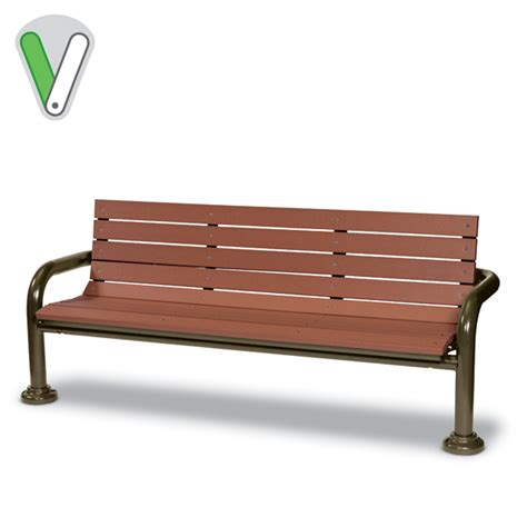 valley bench green valley 6 bench with back inground