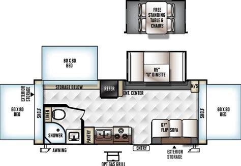 floor plans by shamrock homes 2016 forest river flagstaff shamrock 233s travel trailer