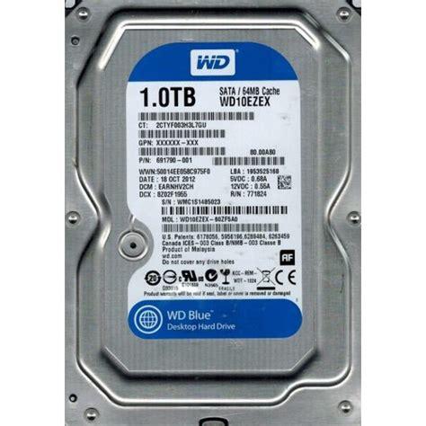 Harddisk Wd Blue 1tb Sata3 64mb western digital caviar blue wd10ezex 1tb 7200 rpm 64mb cach 201 sata 3gbps 3 5 quot disco