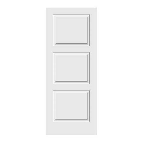 3 panel interior doors home depot jeld wen carved c3000 smooth 3 panel primed mdf interior