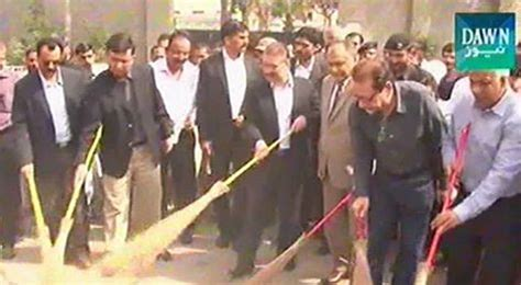 sharjeel memon kick off clean campaign by sweeping the