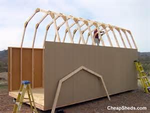 gambrel barn style sheds