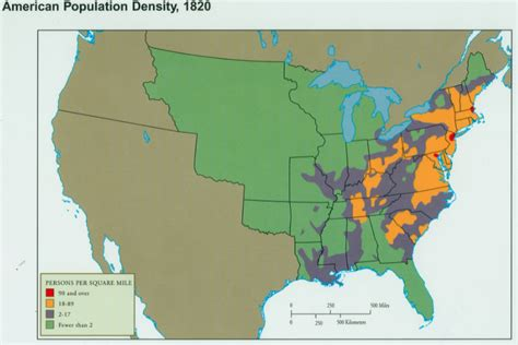 map of us states in 1820 early united states and colonial history population