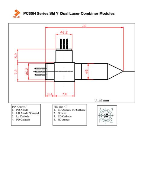 laser diode ld pd 28 images laser diode 635nm coaxial pd ld qsi lab use 9 0mm 500mw 808nm