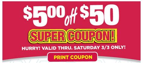 tops grocery coupons printable tops markets 5 off 50 super coupon printable available