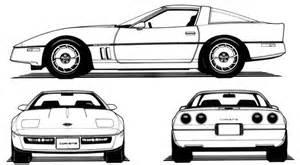 1984 corvette drawings c4 corvette pinterest