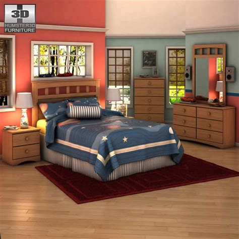 3d bedroom sets ashley benjamin panel bedroom set 3d model hum3d