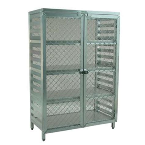 New Age Storage Racks by New Age 97846 Stationary Security Cage Etundra