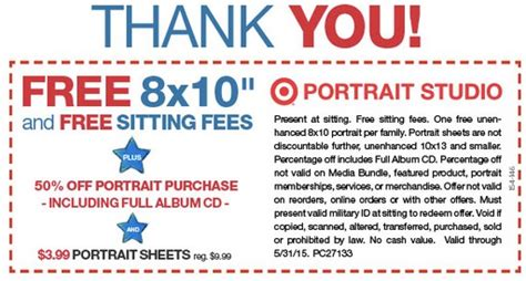 jcpenney printable coupons photo studio target jcpenney portrait studio free 8x10 portrait for