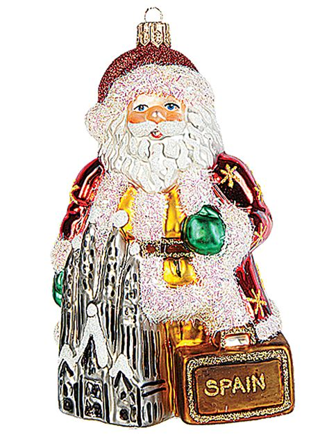 spanish santa in spain polish mouth blown glass christmas