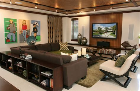 Family Room Decor by Contemporary Decor Familyroom Media Room Just Decorate
