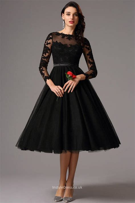 Promo Dress Shakira Uk 2 3 Th Dress Yukensi Dress Murah Dress Balita knee length illusion neck sleeve prom homecoming dress instyledress co uk