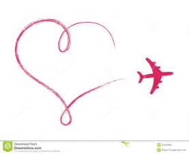 heart shaped icon in air made by plane royalty free stock