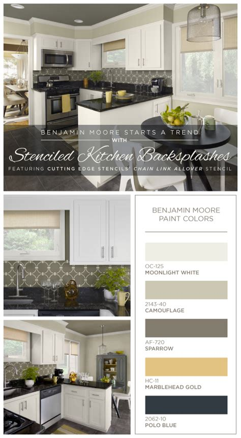 Color Of The Year Benjamin Moore Benjamin Moore Starts A Trend With Stenciled Kitchen