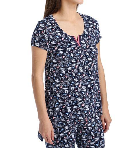 Pajamas With Shelf by Klein Breezy Blue Sleeve Top With Shelf