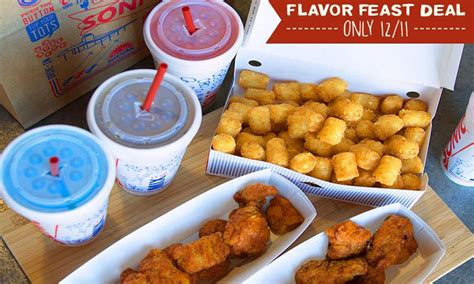 sonic food deal sonic 24 boneless wing meal for 14 99 fast food