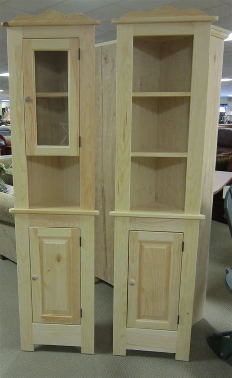 unfinished corner cabinets for dining room manicinthecity