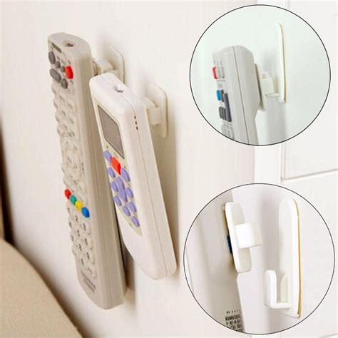 Iring Holder Hook Hanger new 2set 4pcs self adhesive plastic hooks holder remote sticky hook hanger tv air