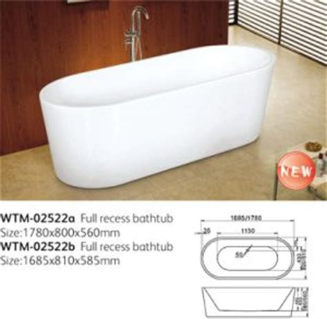 baignoires etroites