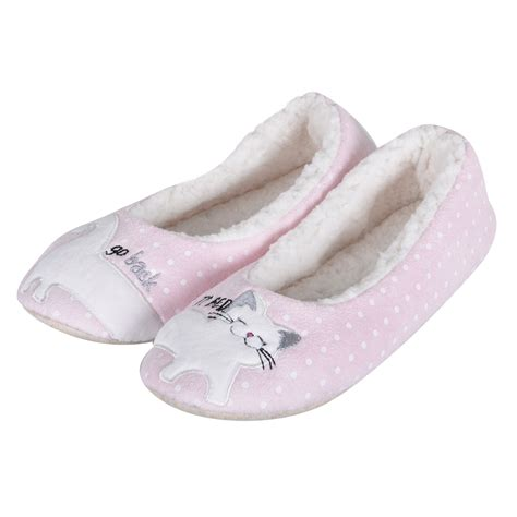 ballet slipper socks pink novelty cat kitten ballet ballerina slippers