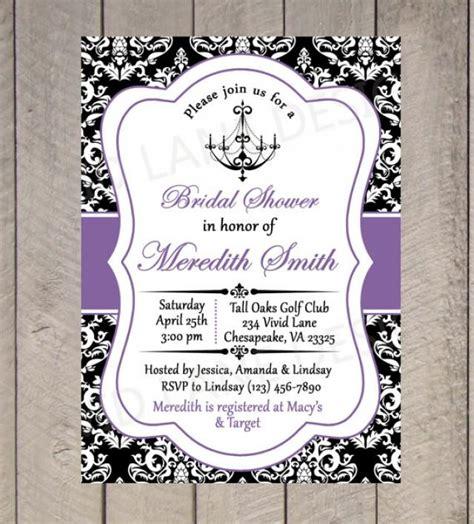 printable black and white bridal shower invitations bridal shower printable invitation chandelier black