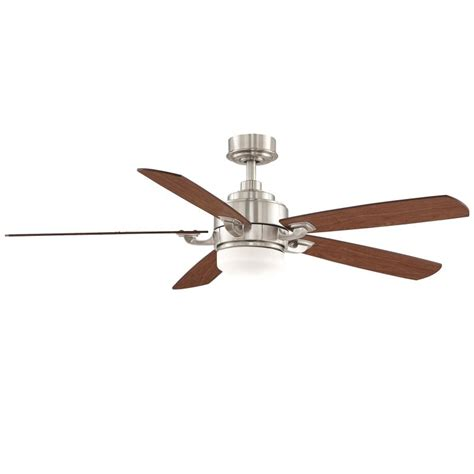Ceiling Fan With Light Kit And Remote Fanimation Fp8003bn Brushed Nickel 52 Quot 5 Blade Ceiling Fan Blades Light Kit And Remote