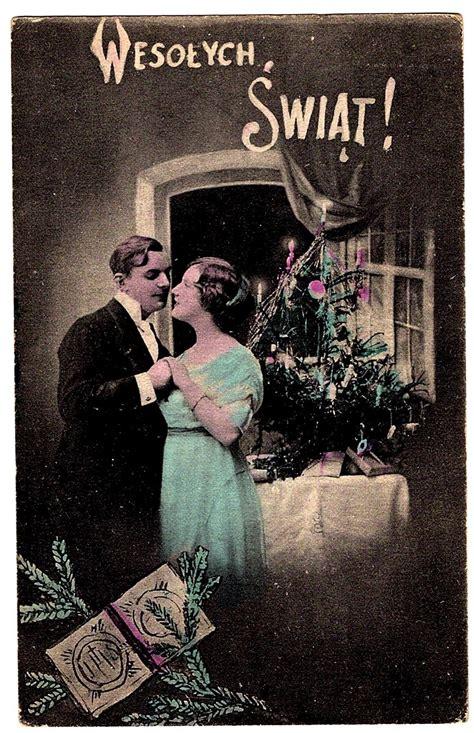 polish language christmas vintage postcard krakow poland connecticut yankee antiques