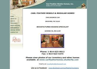 carl feather homes in bedford pa 5969 business 220