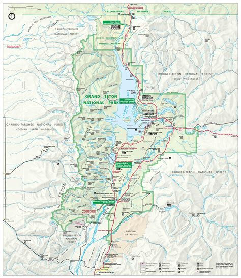 grand teton national park map getting to grand teton national parked