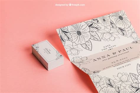 Wedding Invitation Psd Files Free by Floral Wedding Invitation And Cards Psd File Free