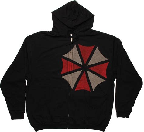 Hoodie Zipper Resident Evil Warm Up With A Subtle Umbrella Corporation Reference On A