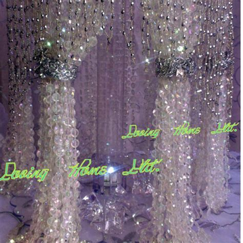 diy crystal curtain iridescent 10mm 9m 30ft hanging acrylic crystal bead