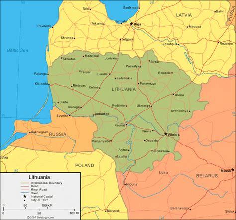 lithuania location on world map lithuania