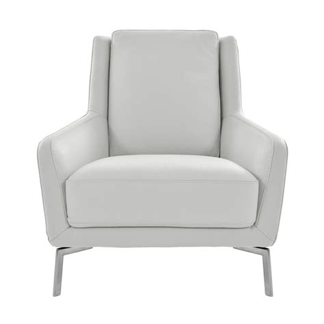 White Leather Accent Chair by Puella White Leather Accent Chair El Dorado Furniture