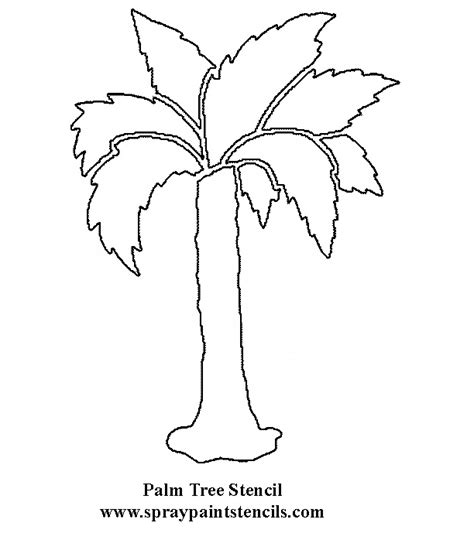 Palm Tree Leaves Outline by Tree Stencils