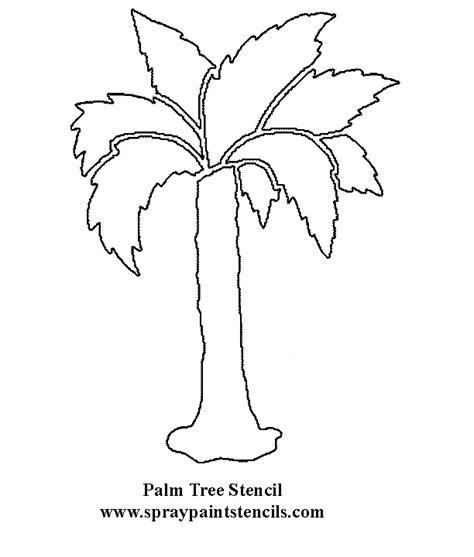 palm tree template tree stencils