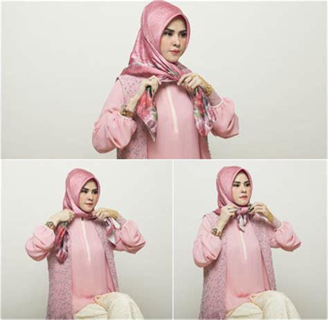 tutorial hijab segitiga licin tutorial hijab berpita dengan scarf segiempat ala angel