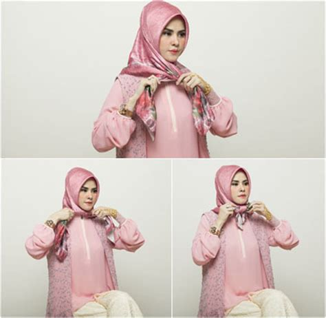 Tutorial Hijab Angel Lelga | tutorial hijab berpita dengan scarf segiempat ala angel