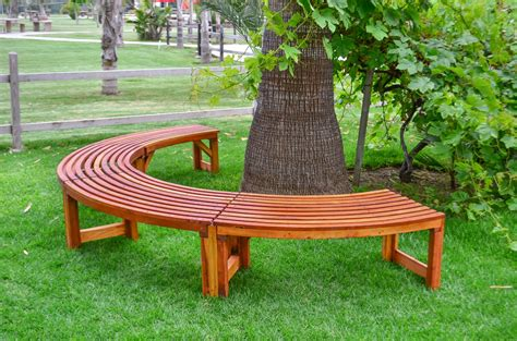 bench tree miramar half circle tree bench foreverredwood