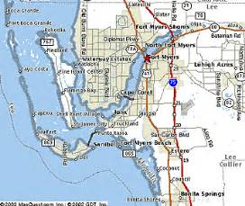 fort myers map florida maps travel locations