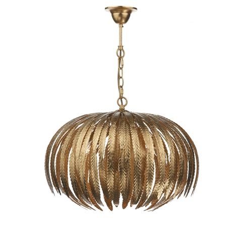 Gold Ceiling Lights Dar Lighting Atticus 5 Light Gold Leaf Ceiling Pendant In Crafted Gold Leaf Dar Lighting