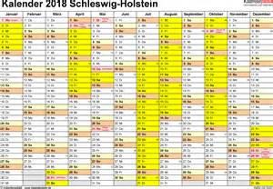 Kalender 2018 Vorlage Excel Kalender 2018 Schleswig Holstein Ferien Feiertage Excel